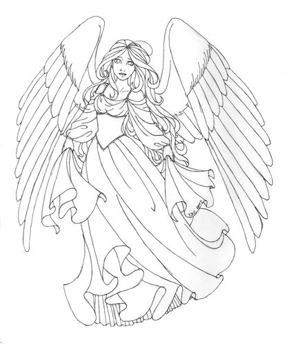 114 best Coloring angels images on Pinterest Drawings Coloring