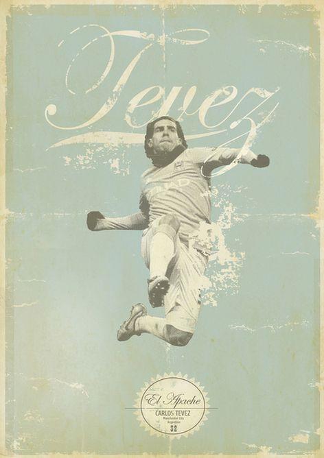 Carlos Tevez | Sucker for Soccer by Zoran Lucić, via Behance