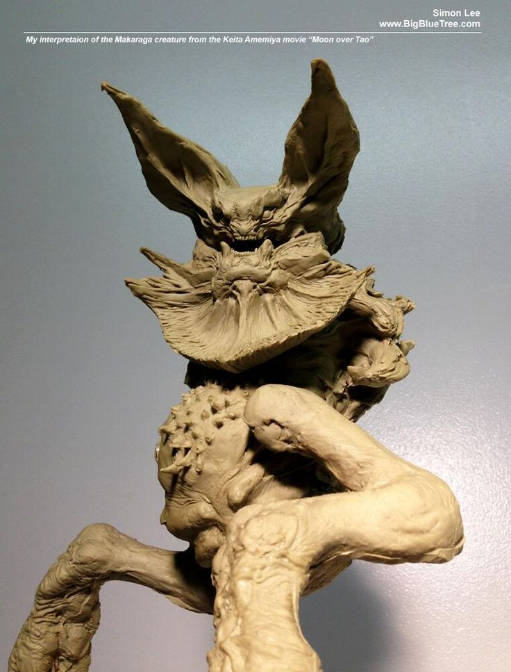 My interpretation of the Makaraga creature from Keita Amemiya's movie MOON OVER TAO. Sculpted in 2009 pic.twitter.com/w26uCFH27S