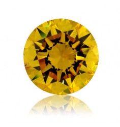 4.52 Ct Canary yellow diamond  Round Shape VVS2 Clarity GIA.