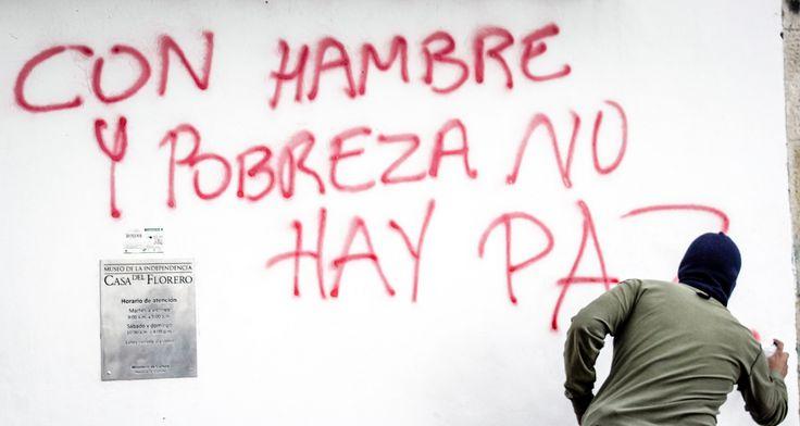 https://flic.kr/p/B8xhFF | Con hambre y pobreza no habrá paz | Movilización social y política del congreso de los Pueblos - Colombia. Celestino Barrera fotografia - photographer