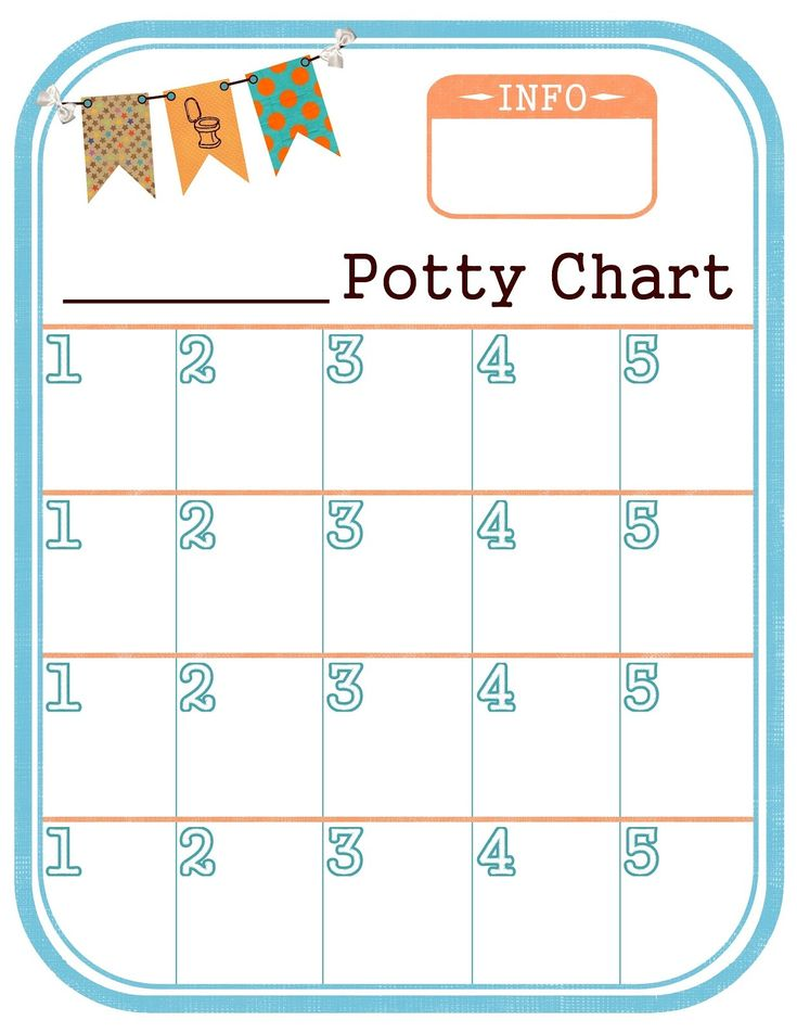 sticker chart for potty training