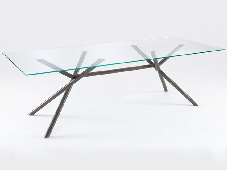 Rectangular glass table BAMBOO by Lema | design Giopato & Coombes
