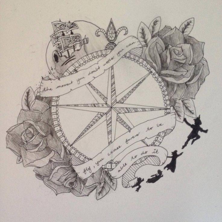 My Peter Pan themeed tattoo design  :)