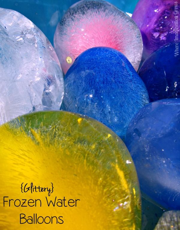 Glittery Frozen Water Balloon Summer Fun for Preschoolers and Toddlers