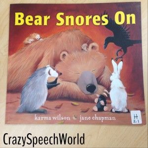 Bear Snores On Book Companion - Includes vocabulary, comprehension, verbs, rhyming, writing, retell, sequencing, and open ended activities!