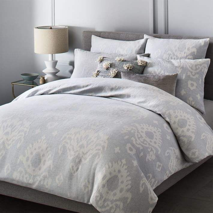3pc King Cal King Leena Cotton Chenille Geometric Comforter Set