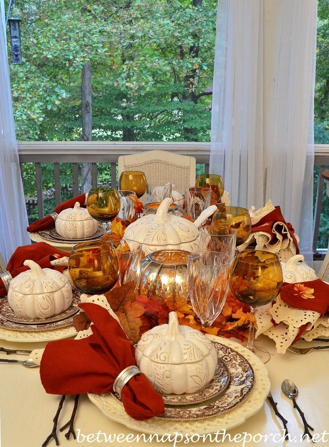 116 Best Fall Table Settings Images On Pinterest