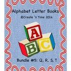This packet is a 4-book BUNDLE that will save you money!  This Bundle includes COMPLETE Letter Books for Letters Q, R, S, T.  Each book features words and colorful pictures of objects whose names begin with the featured letter.  Extension activities (including early learning books related to each letter) are included with the packet.  Perfect for the classroom or for preschoolers and parents to do together! Each of the ALPHABET LETTER BOOKS is also sold separately.  Pre-K, K, 1