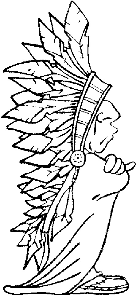 Old Indien Native American Crafts Painting Templates Coloring Books
