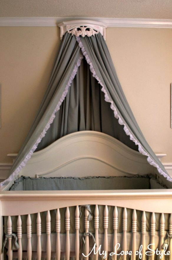 diy bed crown crib canopy tutorial