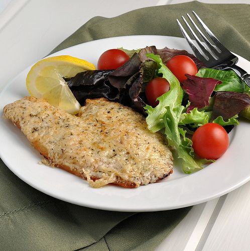 Parmesan Tilapia ~ The Way to His Heart