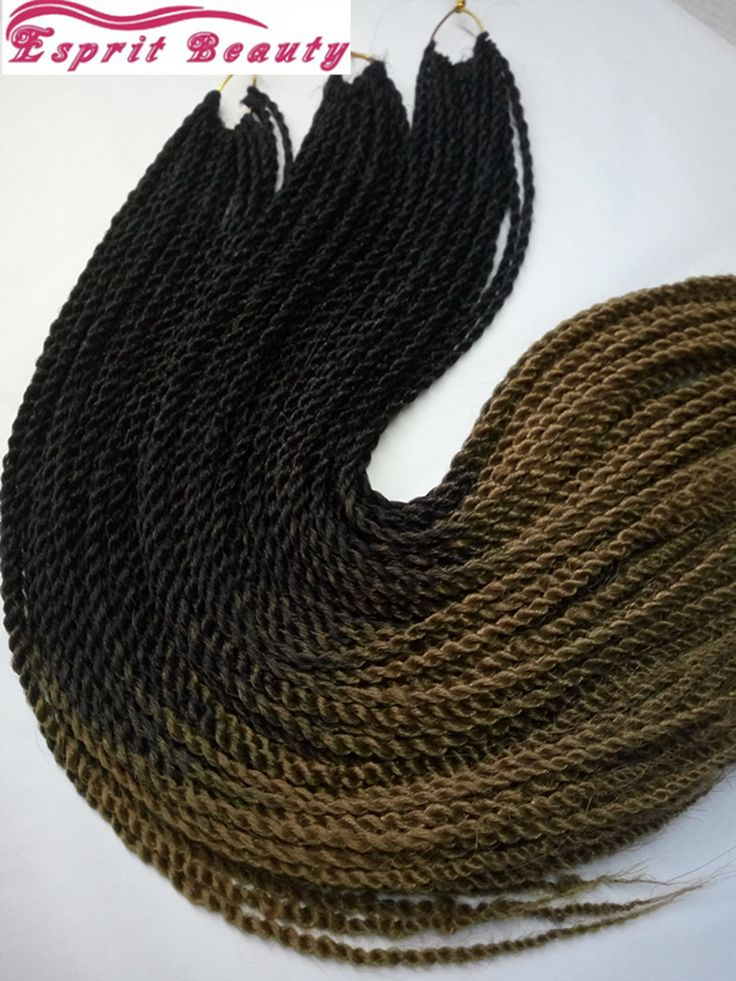 Dip dye two tone color 30roots per pack senegalese twist braids