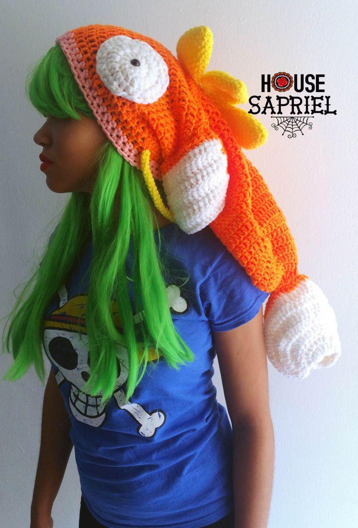 POKEMON MAGIKARP ,Hat Magikarp,Cute Magikarp, Hat Crochet Magikarp, Hat Crochet by HousesaprielShop on Etsy