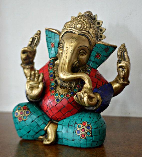 Brass Lord Ganesha Statue - Elephant God Ganpati - God of success