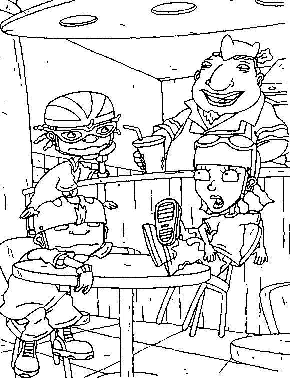 Cozy Kids N Funcom 74 Coloring Pages Of Rocket Power