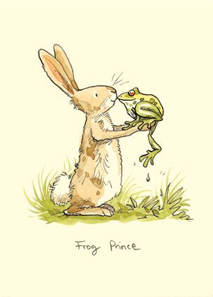 M130 FROG PRINCE - a Two Bad Mice card by Anita Jeram