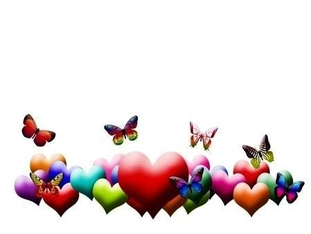 hearts and butterflies