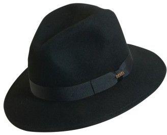 Scala Men's 'Classico' Crushable Felt Safari Hat - Black