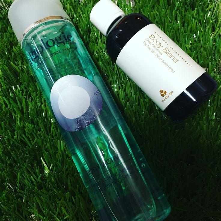 Bodycare spa products! The Day Spa original body oil & Algologie sliming body gel💕