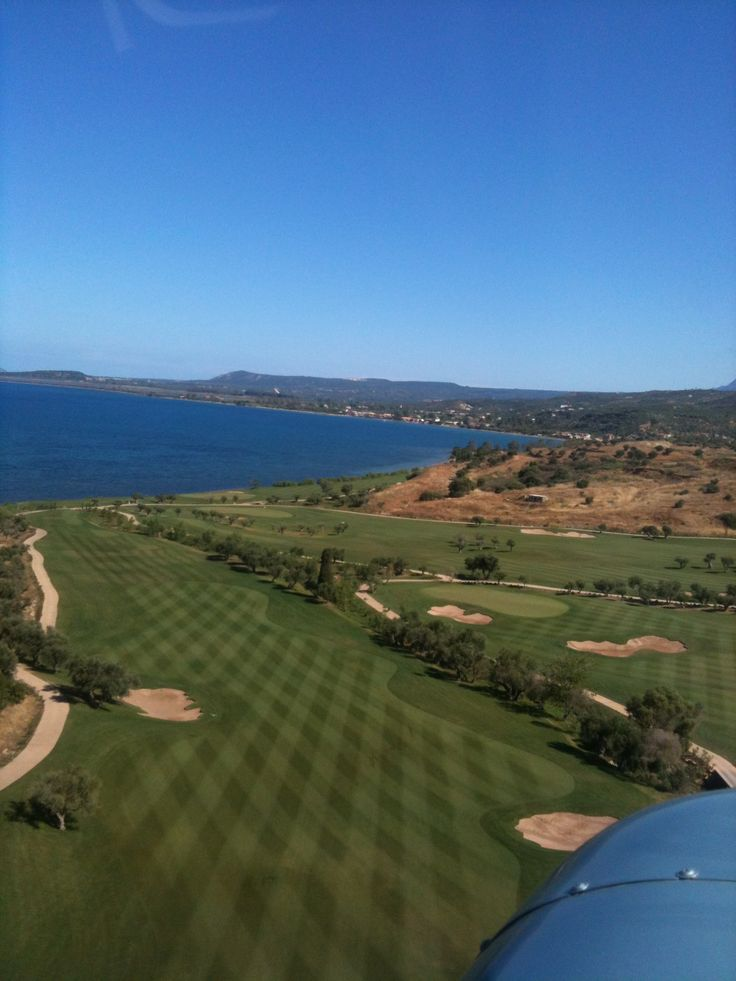 Helicopter view of Costa Navarino