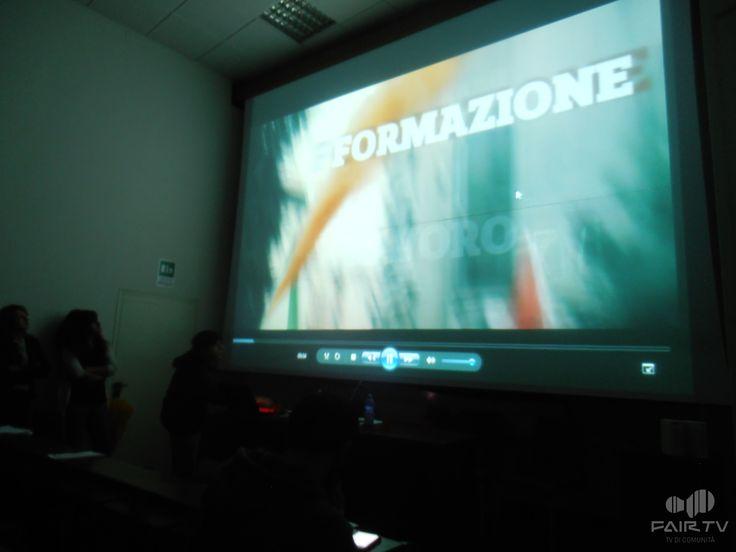 17 novembre. Giornata internazionale degli studenti. Perugia, Umbria, Italy. Durante la presentazione dello spot di FairTv per la videoinchiesta dal basso.