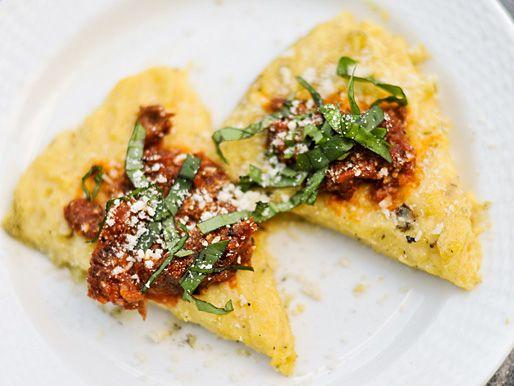 Grilled Polenta With Marinara, Parmesan, and Basil ...