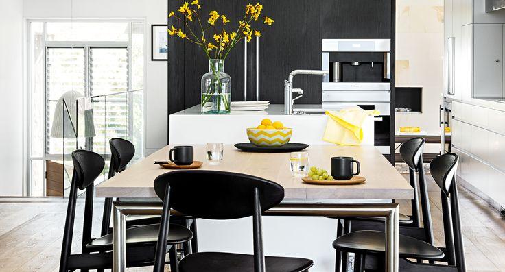 Modern monochrome kitchen