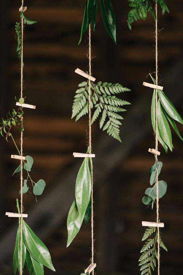guirnalda hojas boda