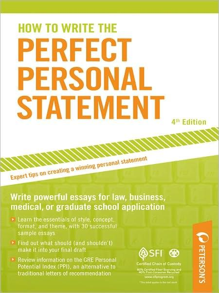What is the format used in a Grad school personal statement?