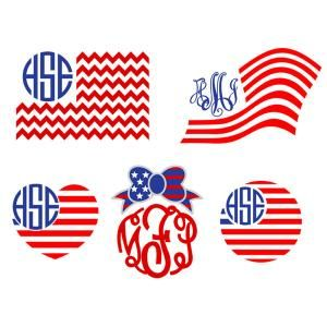 American Flag Pack with Waving Flag in the Breeze, Heart Shape and Bow Monogram Frame Cuttable Design Cut File. Vector, Clipart, Digital Scrapbooking Download, Available in JPEG, PDF, EPS, DXF and SVG. Works with Cricut, Design Space, Sure Cuts A Lot, Make the Cut!, Inkscape, CorelDraw, Adobe Illustrator, Silhouette Cameo, Brother ScanNCut and other compatible software.