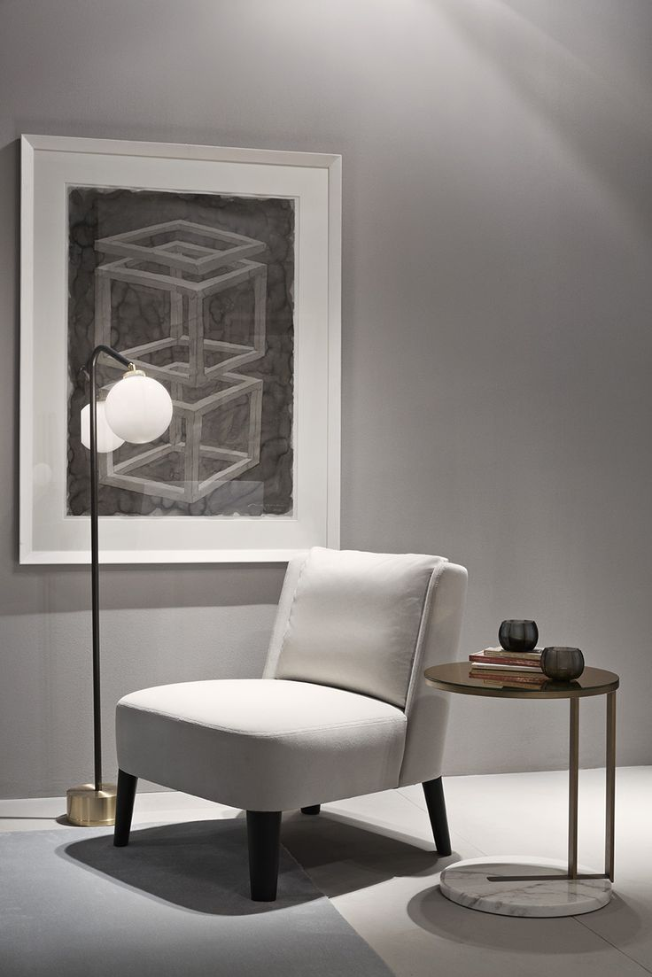 MERIDIANI I CECILE small armchair I RALF side table