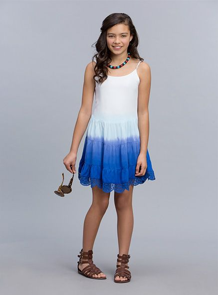 Urban Angel Fashion Dip Dye Frida Dress Royal Blue dress