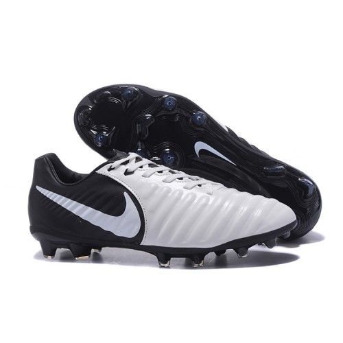 0c8ffd1ed4e81 2017 Nike Tiempo Legend VII FG Botas De Futbol Blanco Negro