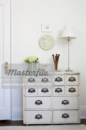 Stock photo of Antique Dresser in Room; Premium Royalty-Free,600-01716224 © Michael Alberstat / Masterfile. All rights reserved.