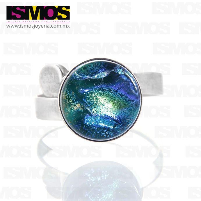 ISMOS Joyería: anillo de plata y vidrio // ISMOS Jewellery: silver and glass ring