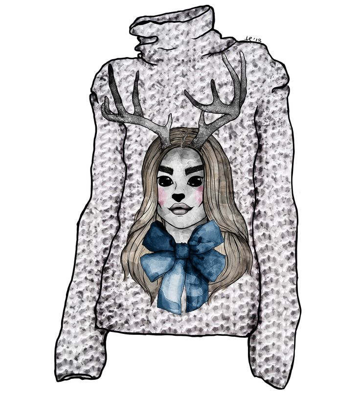 deer, sweater version