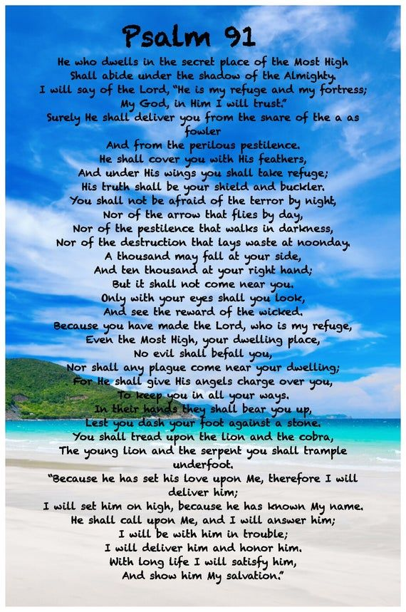 Psalm 91 Picture : psalm, picture, Psalm, NKJV., Poster.,