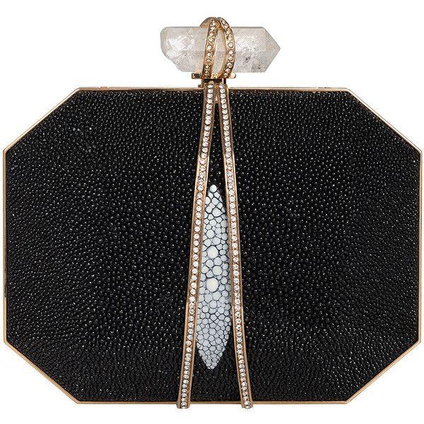 Marchesa Iris Stingray Box Clutch Bag ($1,995) found on Polyvore