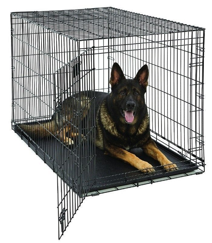 Collapsible Pet Cage 48-Inch Single Door Metal Durable Wire Portable Dog House #MidWestHomesforPets