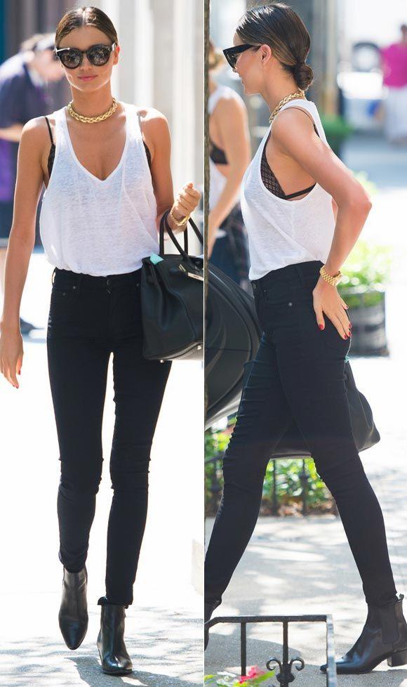 ミランダ・カー、白タンクトップ×黒スキニージーンズでお出かけ | 海外セレブ&セレブキッズの最新画像・私服ファッション・ゴシップ | Jinclude