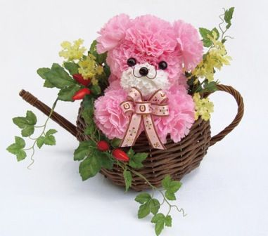 Mini Ositos tiernos. Mascotas florales.