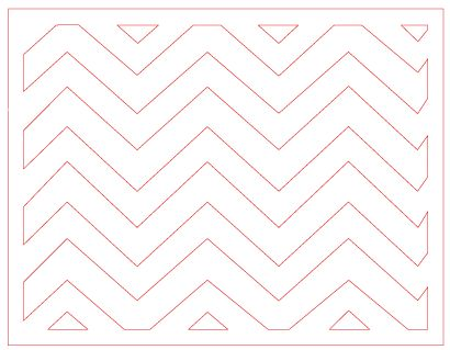 free SVG and Silhouette File – Chevron card base