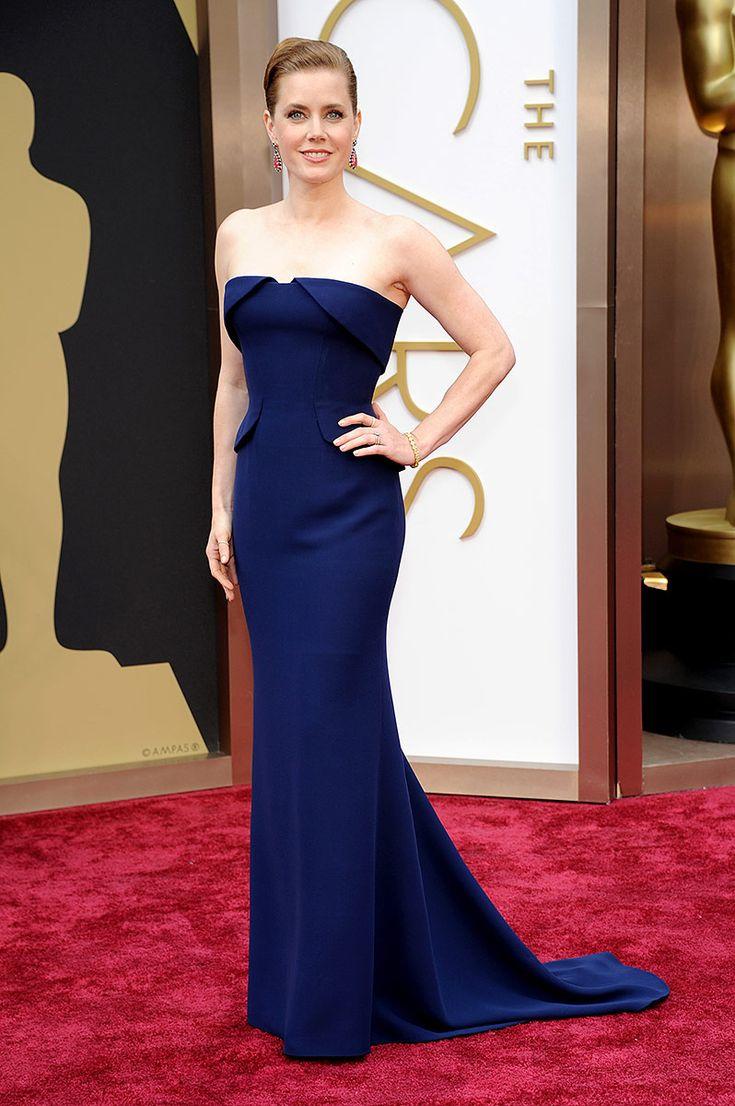 #Amy Adams, en un look de #Gucci Première, en la 86 entrega de los premios Oscar.
