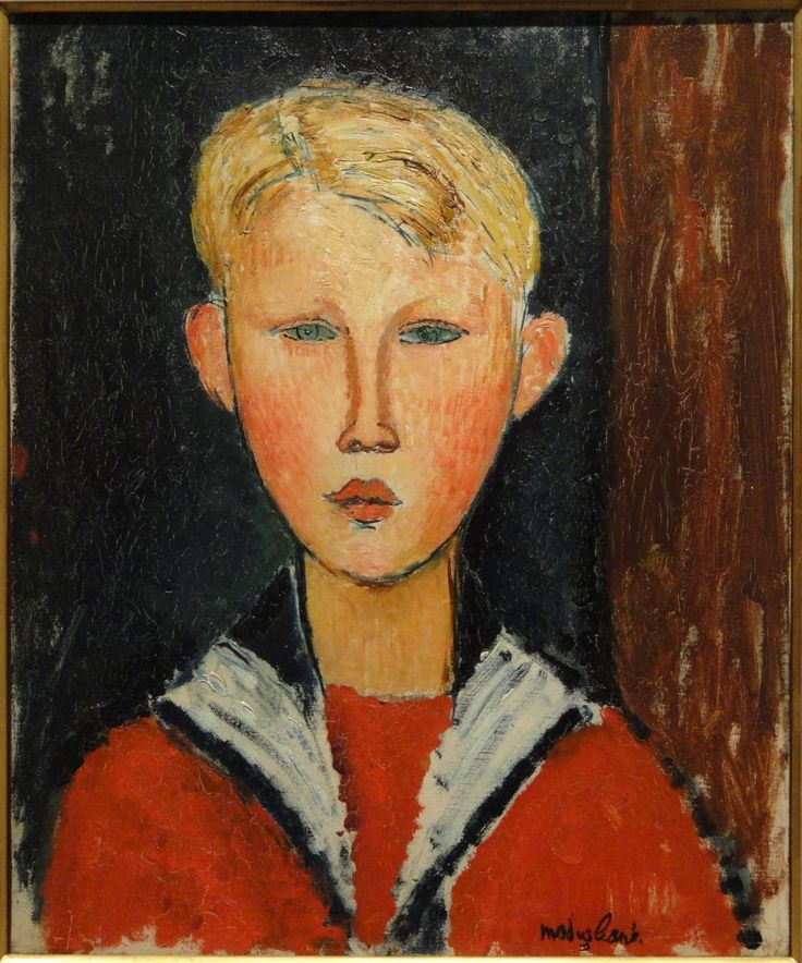 The Blue-Eyed Boy / 1916 / Height: 46.3 cm (18.23 in.), Width: 38.3 cm (15.08 in.) / Oil on canvas / San Diego Museum of Art  (United States - San Diego, California)