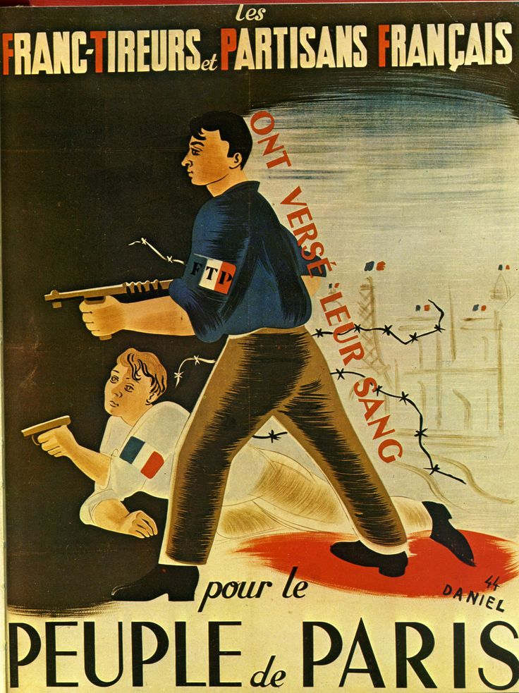 WW2 French resistance poster