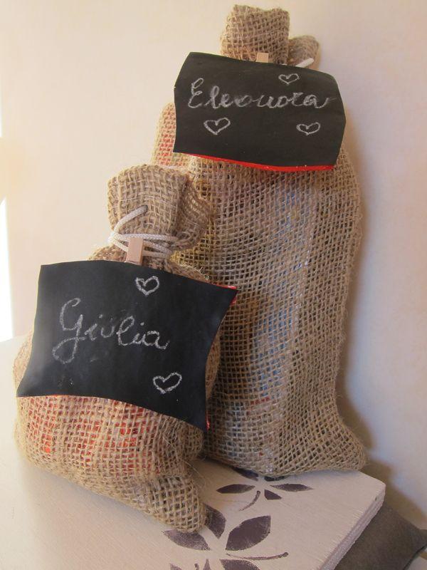 Etichette regalo lavagna, idea creativa