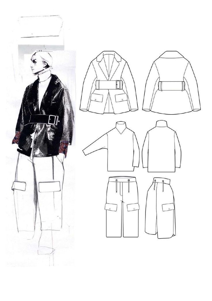 Fashion Sketchbook - fashion illustration & technical fashion drawings; fashion portfolio layout // Andrew Voss