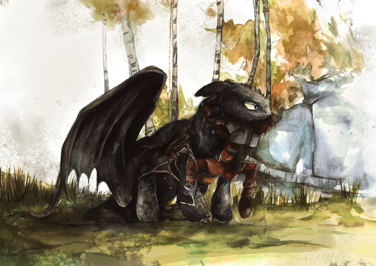 Toothless Watercolour by Dreamsoffools.deviantart.com on @DeviantArt