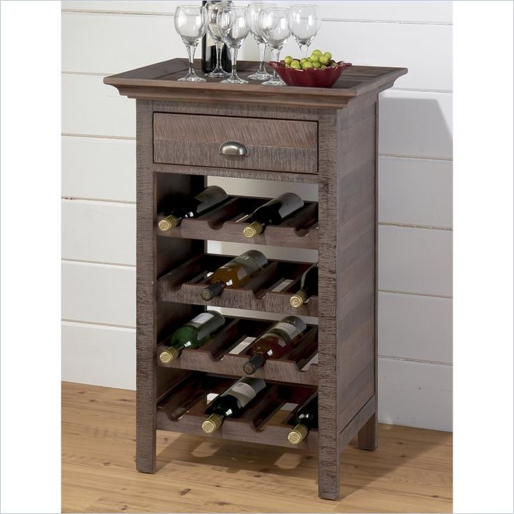 Jofran Wine Rack in Falmouth Weathered Grey - 535-12